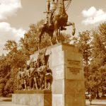 Statue d'un général russe à Moscou