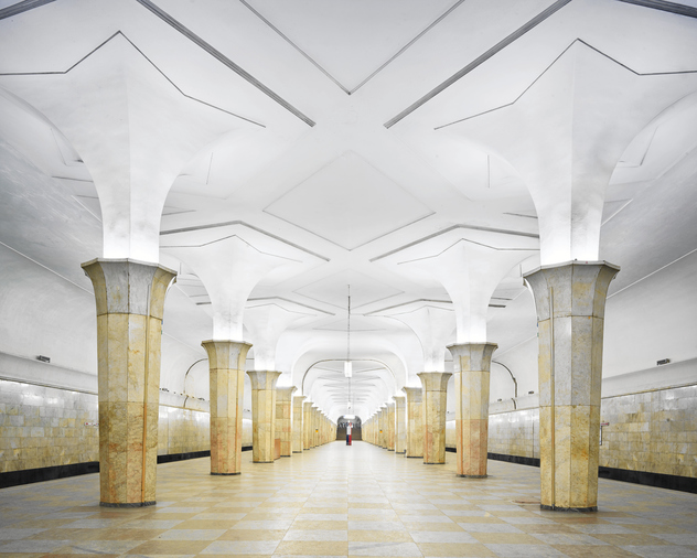Station-Kropotkinskaya-Métro-de-Moscou