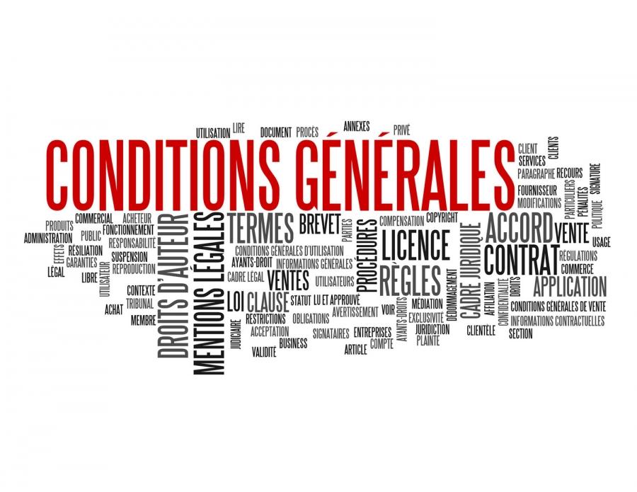 CGU - conditions générales d'utilisation