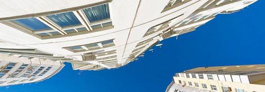 Vue panoramique dans un quartier neuf de Moscou