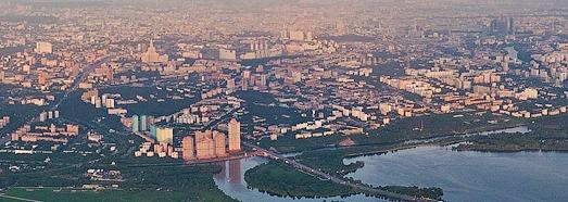Vue panoramique de Moscou à 1000m d'altitude