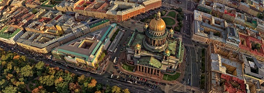 Vue panoramique de Saint Petersbourg