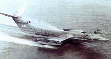 Hydrofoil Ekranoplane monstre de la mer Caspienne