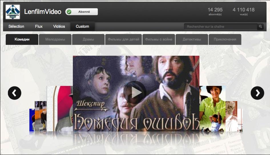 Cinéma russe et soviétique - Lenfilm youtube