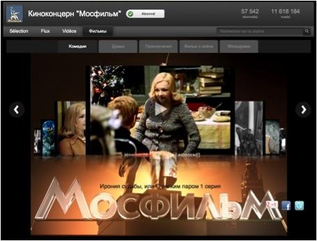 Cinéma russe et soviétique - mosfilm youtube