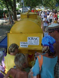 Le kvass est servi dans les rues en été