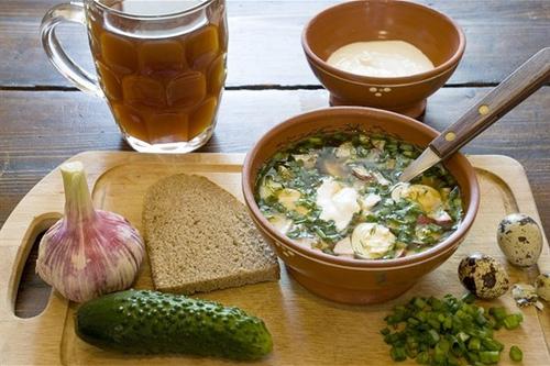 L'okroshka est une soupe froide pout l'été