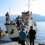 Embarquement sur le lac Teletskoe en Altaï