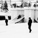 Ancêtre des montagnes russes, les pistes de glaces sont toujours pratique courante en Russie