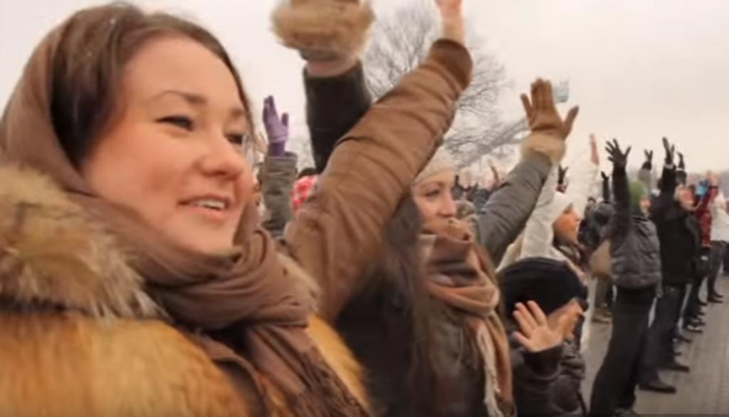 flash mob russe