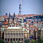 La tour de télévision à Prague