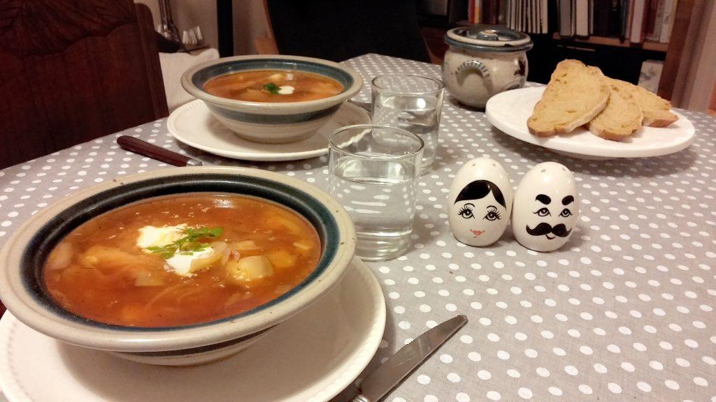Le borsch, la soupe russe