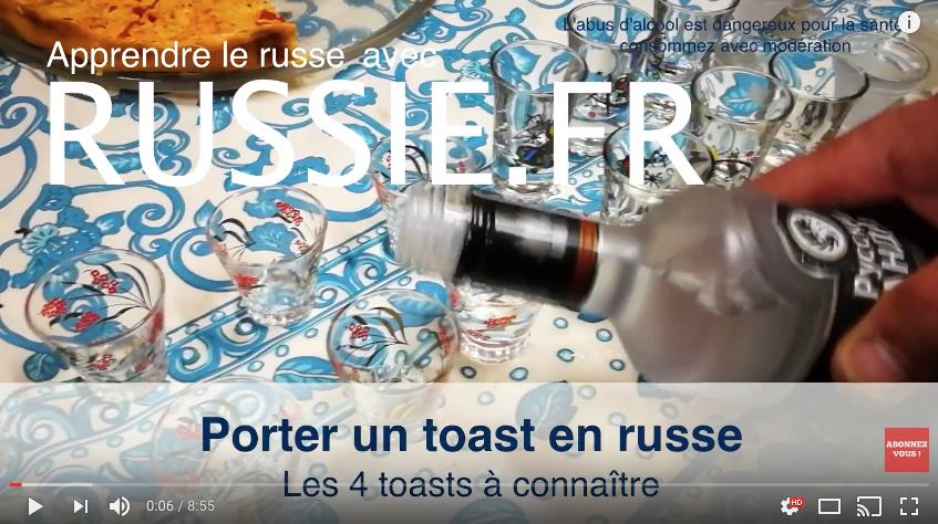Trinquer ou porter un toast en russe (toast à la russe)