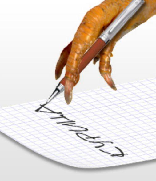 Les idiomes russes - écrire comme un poulet avec sa patte ?